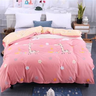 DREAM HOME 床品单件被套单人被罩双人床全棉被套单件单品纯棉被套可爱卡通269233-2