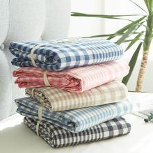 DREAM HOME 床品單件全棉被套水洗棉被套單人被罩雙人被套單件大格子118523-3