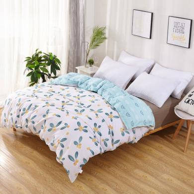 品卧家纺 全棉斜纹半活?#26434;?#33457;纯棉被套床上用品 1.2/1.5/1.8/2.0米可选