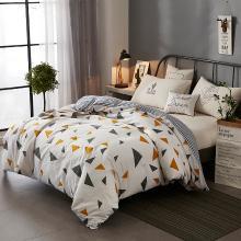 DREAM HOME 床品單件全棉簡歐單被套單雙人學生幾何圖案條紋純棉被套417215-1