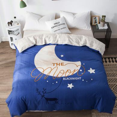 DREAM HOME 床品單件全棉被套大版印花單被套 兒童被套 學生被套 624000-4