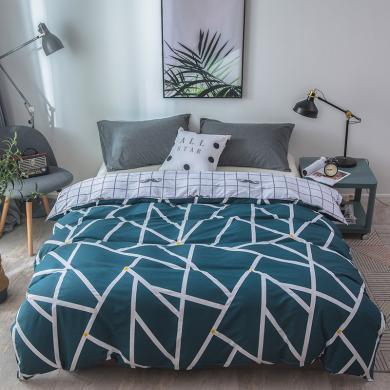 DREAM HOME 1.5米床全棉被套1.8米2.0米床纯棉双人被罩单品被套全棉斜纹被套631413-1