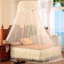 帝豪家纺 圆顶吊顶蚊帐宫廷伞帐吊挂式免安装1.5米1.8m床公主风