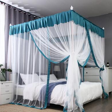 米卡多蚊帳8839款落地式家用蚊帳1.8m床雙人1.5m米加密加厚學生宿舍蚊帳