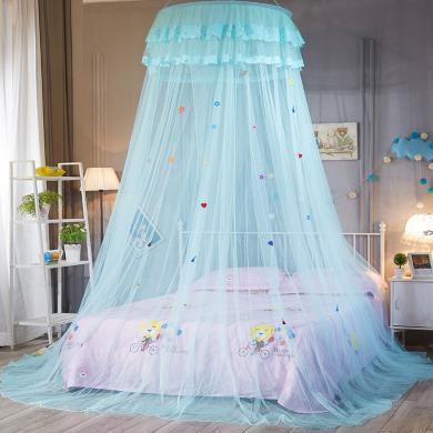 VIPLIFE儿童婴儿圆顶蚊帐宫廷吊挂圆顶床幔式蚊帐