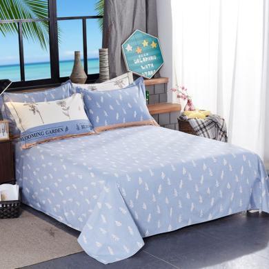 品卧家纺 磨毛印花单床单床上用品 1.2米1.5米1.8米2米床可用