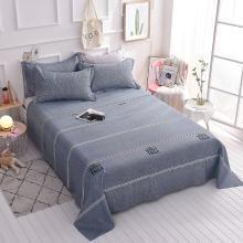 羽芯家纺  新款全棉单品床单系列单床单+枕套一对