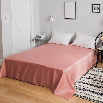 DREAM HOME 全棉簡約輕奢單床單單人雙人純棉床單623633-2