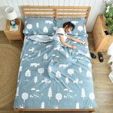 芒更家纺 便携式成人旅行纯棉隔脏防脏睡袋床单