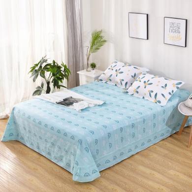 品臥家紡 全棉斜紋半活性印花純棉床單床上用品 多規格尺寸可選