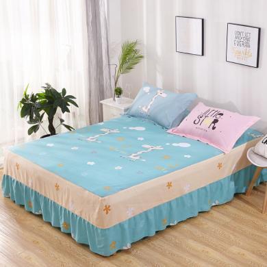 DREAM HOME 純棉單品 單人雙人床純棉床單床裙[不含枕套] 654287-1