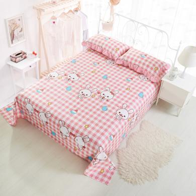 DREAM HOME  全棉印花直角床單純棉雙人床單品床單卡通印花兒童床單[不含枕套]719411b
