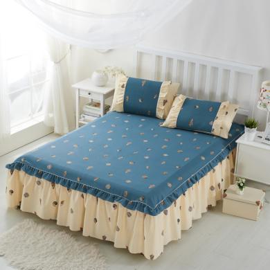 DREAM HOME 全棉單品床單純棉床裙1.2/1.5/1.8/2米床床罩【不含枕套】719516/719556b