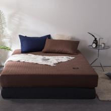 DREAM HOME 床品单件纯色全棉半包夹棉床笠加厚床单保暖床垫499674-3