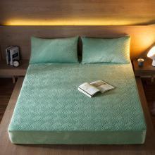 DREAM HOME 床品单件纯色水晶绒夹棉单品床笠加厚床单保暖床垫518993-2
