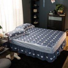 羽芯家纺 纯棉夹棉床罩 全棉加厚保暖床裙床套YC860005