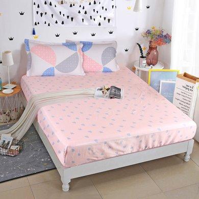 帝豪家紡 單件床笠    純棉防滑床單     床墊套 床罩     席夢思保護套1.8m床