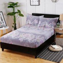 羽芯家纺 全棉斜纹印花单品床笠+枕套一对