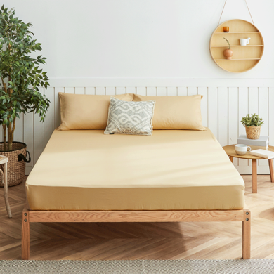 大樸60支純棉雙人床單純色單雙人全棉床笠1.2/1.5/1.8m席夢思床罩