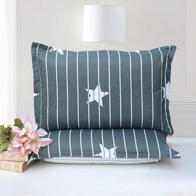 帝豪家紡 純棉枕套一對裝  全棉單人成人活性印染枕頭套一對