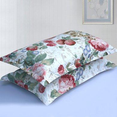 帝豪家紡 枕套一對 純棉全棉單人枕頭套 花香麗人