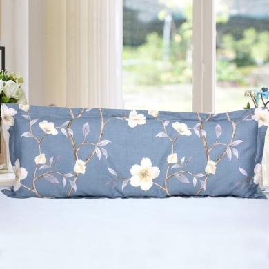 帝豪家紡 雙人枕頭套1.2米純棉雙人枕套1.5米全棉加長枕套長款