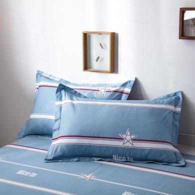DREAM HOME 新款全棉色織水洗棉純棉單人學生枕套 【一對裝】 647296-3