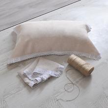 ALIYAH 純亞麻蕾絲枕巾 健康環保柔軟舒適成人高檔單人亞麻枕頭巾四季適用