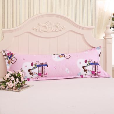 DREAM HOME  纯棉双人长枕头套子情侣枕头套枕套1.2米全棉长款1.5米1.8m97083/84/85