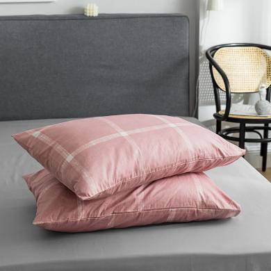 DREAM HOME 全棉單品枕套純棉單人學生枕套【一對裝】623707a