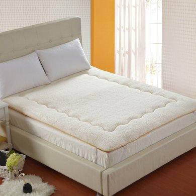 羽芯家纺 超柔羊羔绒床垫床上用品 单双人榻榻米床褥YC20140016