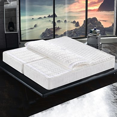 皇家愛慕進口天然乳膠床墊5cm 席夢思折疊棕墊 彈簧床墊 棕櫚 分體 1.5米/1.8米雙人 分體式 左右兩邊硬度可調節