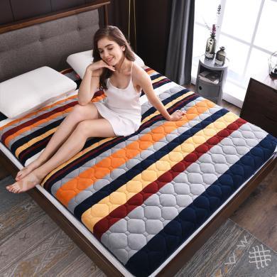 羽芯家紡 加厚法萊絨床墊床褥1.5m床褥子學生宿舍抗菌床墊1.8米墊被