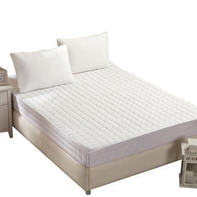 【恒源祥家纺】 彩羊宫廷美式床垫 全棉 床褥防钻毛床垫 席梦思保护垫(白)1.5/1.8M 舒适床垫  品质床垫