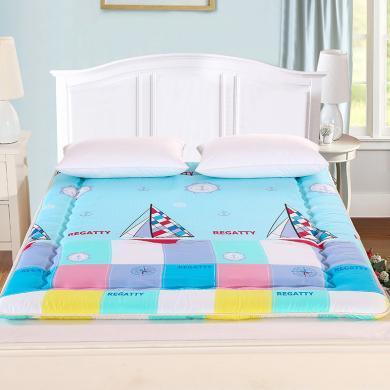 品臥家紡 磨毛印花床墊 床鋪床褥子床上用品學生上下鋪春夏秋冬 榻榻米床墊