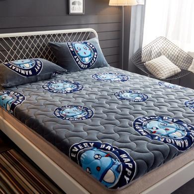 DREAM HOME 5厘米加厚牛奶絨三明治保暖床墊  單人床墊上下鋪床墊734291