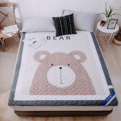 DREAM HOME 床墊1.5米床褥子印花軟床墊床墊 單人雙人家用墊被學生宿舍床墊薄款757007