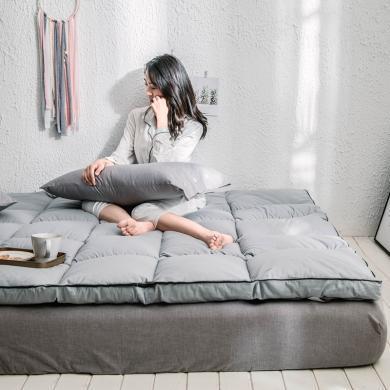 羽芯家紡   新款羽絲絨立體邊軟床墊雙人床褥可折疊