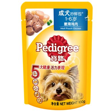 宝路成犬妙鲜包鸡肉味100g