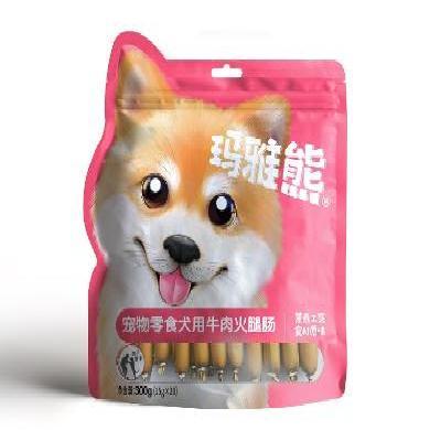 玛雅熊 宠物狗零食 肉类零食 牛肉火腿肠  300g