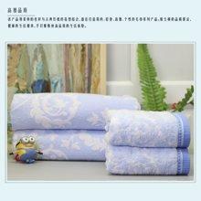 纯棉提花毛巾被-仅剩瑕疵品,买即送56元精梳长绒棉浴巾1条(460克)