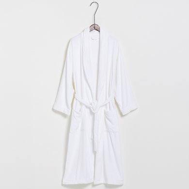 純棉單面切絨和服領浴袍