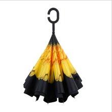 反折伞创意双层反向伞 免持超大长柄伞 商务汽车晴雨伞广告伞