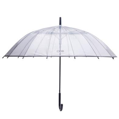 多样屋 TAYOHYA 城市生活加厚透明长柄伞 遮阳伞雨伞