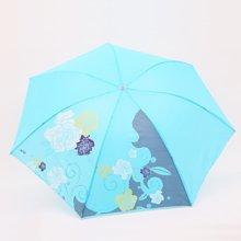 天堂伞高密素色聚酯纺三折晴雨伞防晒遮荫 丝印/花色/格子339S系列