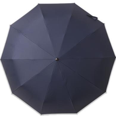 全自動雨傘自動開收男傘123CM大傘面12骨抗風高級防水黑膠傘布