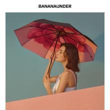 BANANA UNDER蕉下茉白防晒小黑伞折叠晴雨伞女防紫外线太阳遮阳伞