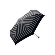 【支持购物卡】日本W.P.C 晴雨两用折叠伞 黄心条纹款NO.951-128黑色底白条纹mini香港直邮