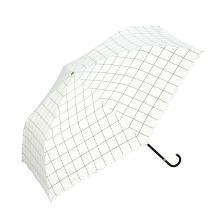 【支持购物卡】日本W.P.C 晴雨两用折叠伞 遮光格子款mini NO.801-567 白色 香港直邮