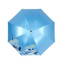 天堂伞晴雨伞黑胶防晒遮阳伞防紫外线3391E水墨花语